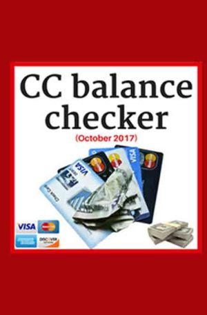 CC/CVV Balance Checker+Live Or Dead