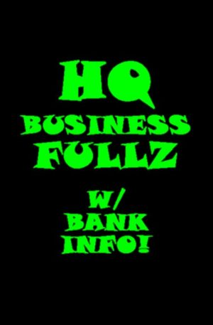 High Quality Business Fullz fulls w/ bank account numbers and DL numbers