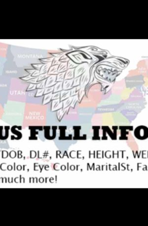 US Full Info Profiles (SSN,DOB,DL,RACE,H&E Colors,More)