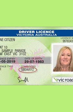 GENUINE AUSTRALIAN DRIVER LICENSE BOTH SIDES VALID
