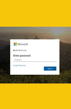 Office365-18 Phishing Page | Single Login Scam Page