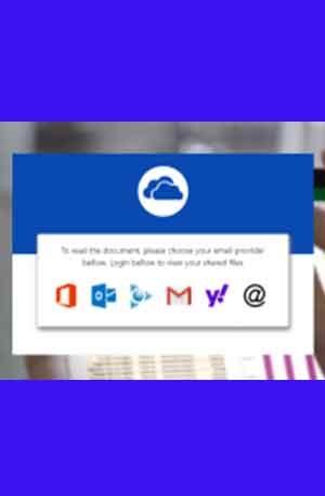 OneDrive EV Triple Login Phishing page | Scam Page
